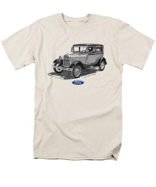 1928 Model A Ford 2 dr Sedan T-Shirt by Jack Pumphrey