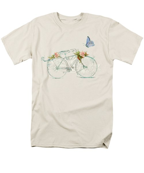 Summer At Cape May - Bicycle Men's T-Shirt  (Regular Fit) by Audrey Jeanne Roberts