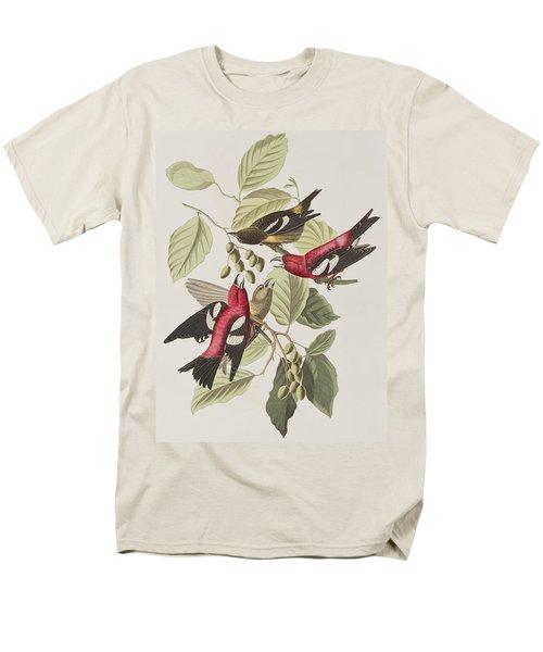 White-winged Crossbill Men's T-Shirt  (Regular Fit) by John James Audubon