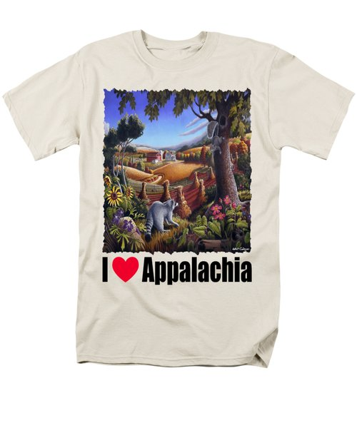 Amish Country - Coon Gap Holler Country Farm Landscape Men's T-Shirt  (Regular Fit) by Walt Curlee