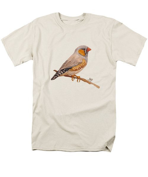 Zebra Finch Men's T-Shirt  (Regular Fit) by Angeles M Pomata