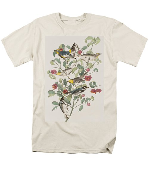 Audubons Warbler Hermit Warbler Black-throated Gray Warbler Men's T-Shirt  (Regular Fit) by John James Audubon