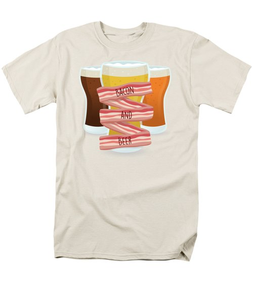 Bacon And Beer Men's T-Shirt  (Regular Fit) by Renato Kolberg