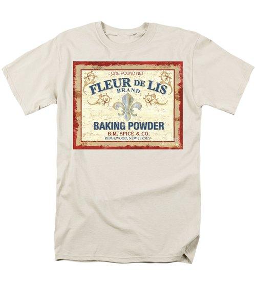 Baking Powder Fleur de Lis T-Shirt by Debbie DeWitt
