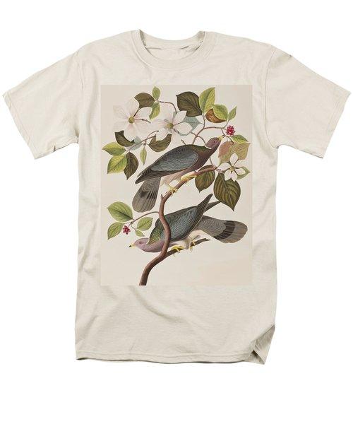 Band-tailed Pigeon  Men's T-Shirt  (Regular Fit) by John James Audubon