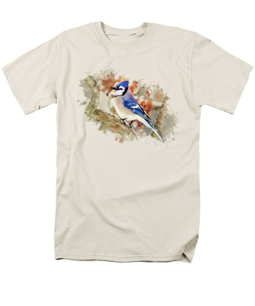 Beautiful Blue Jay - Watercolor Art Men's T-Shirt  (Regular Fit) by Christina Rollo