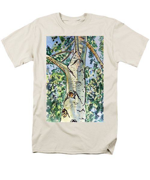Birch Tree Sketchbook Project Down My Street T-Shirt by Irina Sztukowski