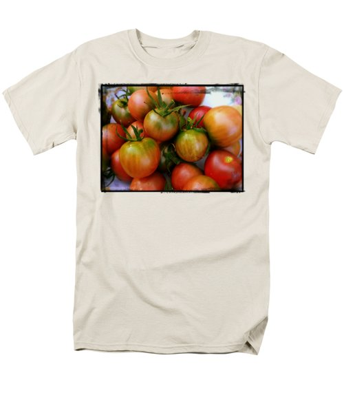 Bowl Of Heirloom Tomatoes Men's T-Shirt  (Regular Fit) by Kathy Barney