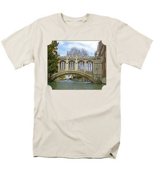Bridge Of Sighs Cambridge Men's T-Shirt  (Regular Fit) by Gill Billington