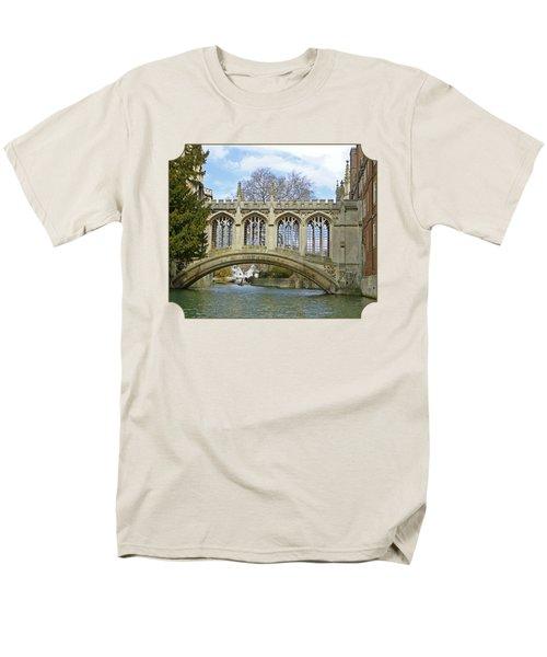 Bridge Of Sighs Cambridge Men's T-Shirt  (Regular Fit) by Gill Billington