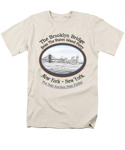 Brooklyn Bridge Men's T-Shirt  (Regular Fit) by James Lewis Hamilton