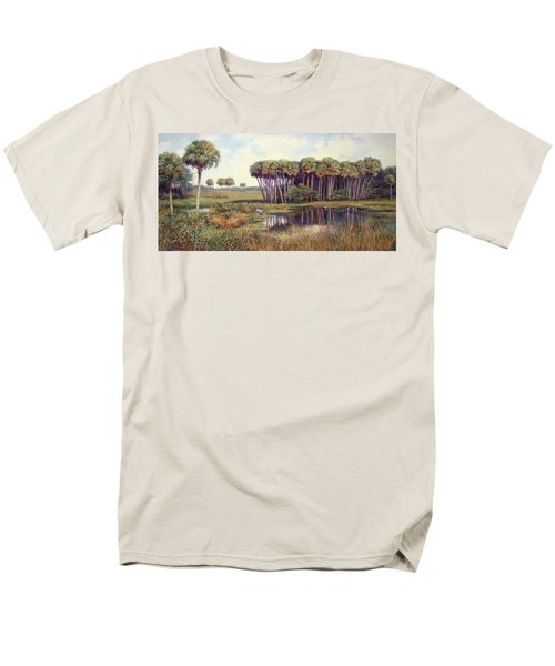 Cabbage Palm Hammock Men's T-Shirt  (Regular Fit) by Laurie Hein