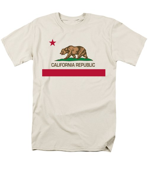 California Republic State Flag Authentic Version Men's T-Shirt  (Regular Fit) by Bruce Stanfield