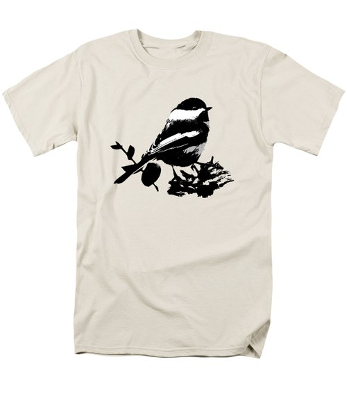 Chickadee Bird Pattern Men's T-Shirt  (Regular Fit) by Christina Rollo