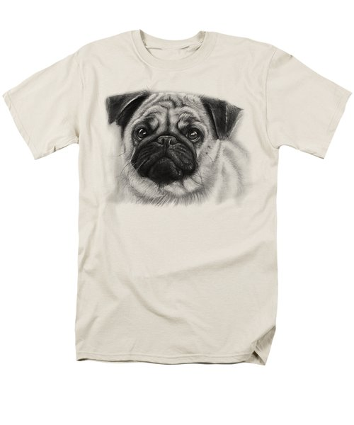 Cute Pug Men's T-Shirt  (Regular Fit) by Olga Shvartsur
