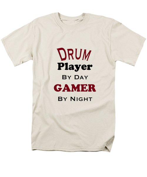 Drum Player By Day Gamer By Night 5625.02 Men's T-Shirt  (Regular Fit) by M K  Miller
