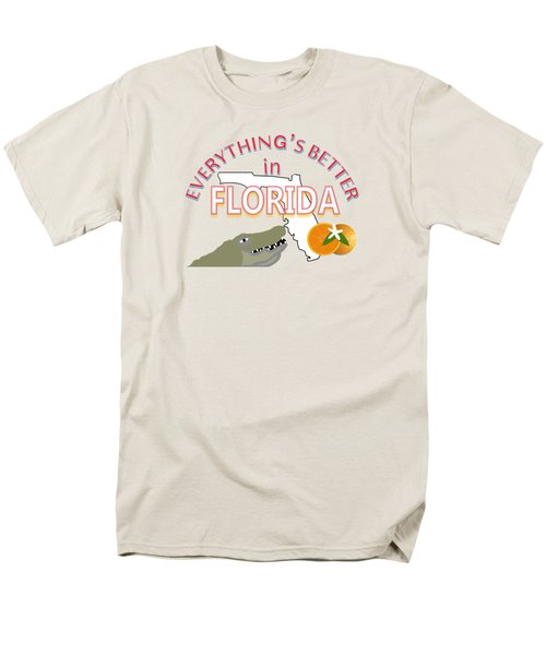 Everything's Better In Florida Men's T-Shirt  (Regular Fit) by Pharris Art