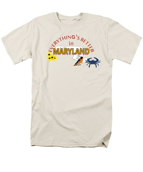 Everything's Better In Maryland Men's T-Shirt  (Regular Fit) by Pharris Art