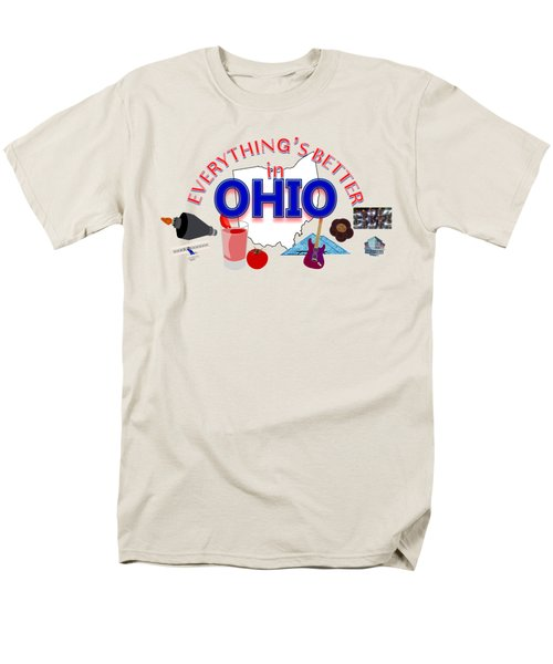 Everything's Better In Ohio Men's T-Shirt  (Regular Fit) by Pharris Art