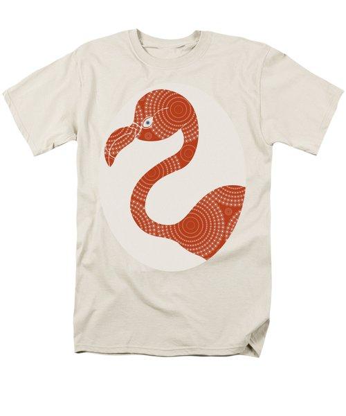 Floral Flamingo Men's T-Shirt  (Regular Fit) by Frank Tschakert