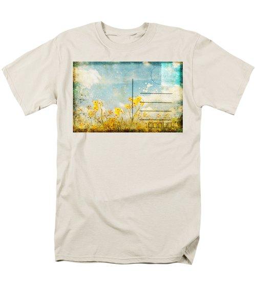 floral in blue sky postcard T-Shirt by Setsiri Silapasuwanchai