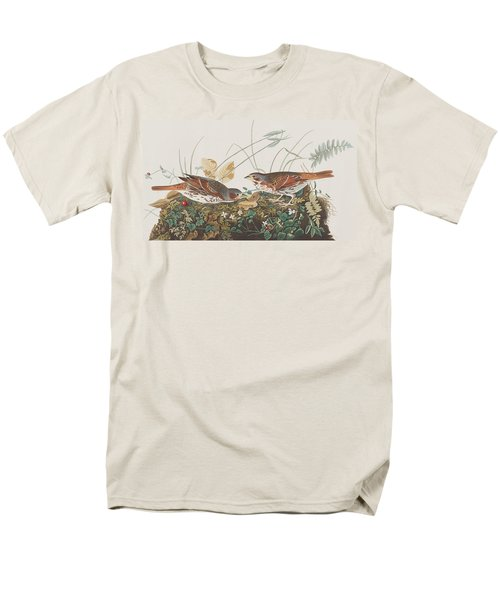 Fox Sparrow Men's T-Shirt  (Regular Fit) by John James Audubon
