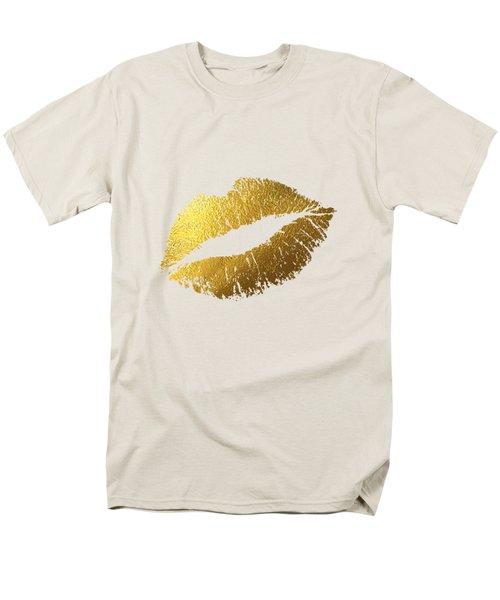 Gold Lips Men's T-Shirt  (Regular Fit) by Bekare Creative