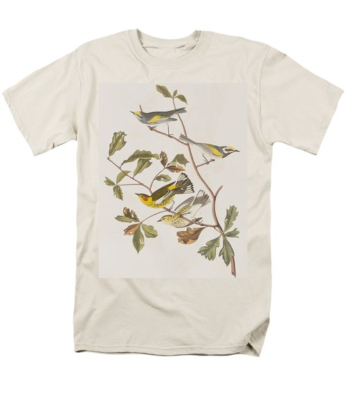 Golden Winged Warbler Or Cape May Warbler Men's T-Shirt  (Regular Fit) by John James Audubon
