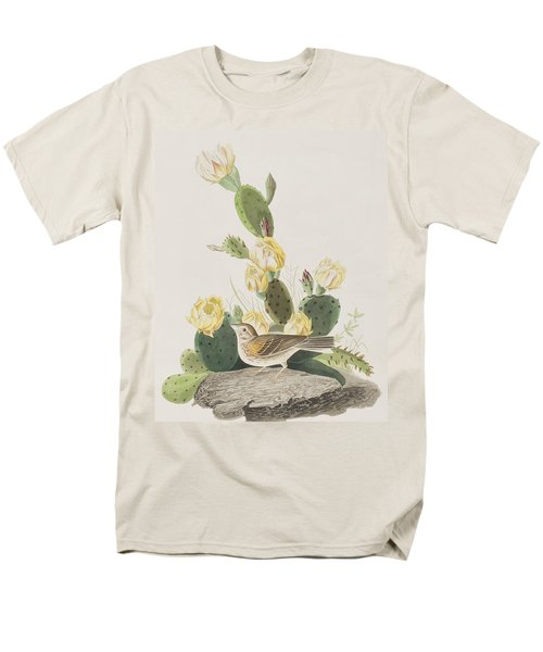 Grass Finch Or Bay Winged Bunting Men's T-Shirt  (Regular Fit) by John James Audubon
