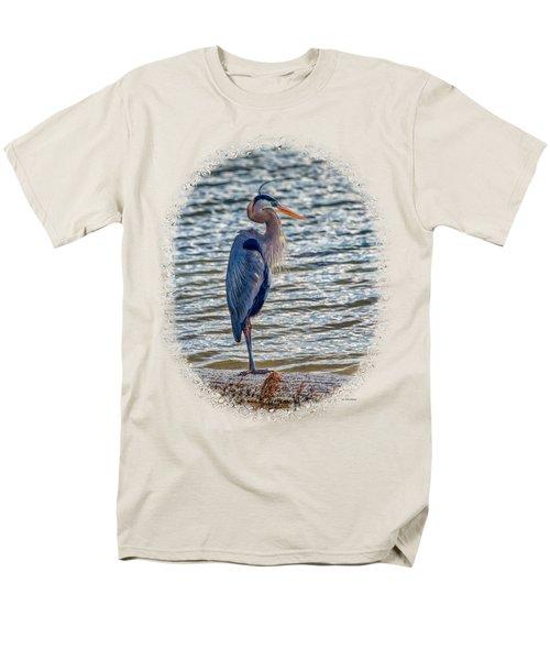 Great Blue Heron Men's T-Shirt  (Regular Fit) by John M Bailey