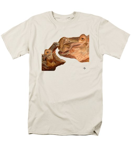 Hippos Men's T-Shirt  (Regular Fit) by Angeles M Pomata