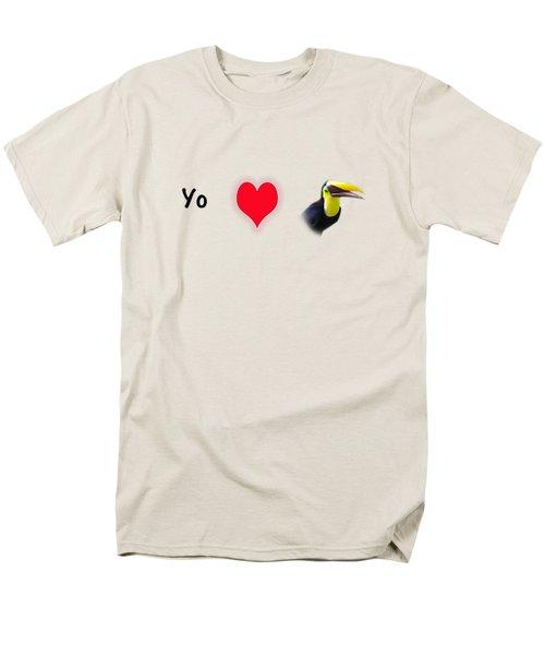 I Love Toucans Men's T-Shirt  (Regular Fit) by Paul  Gerace