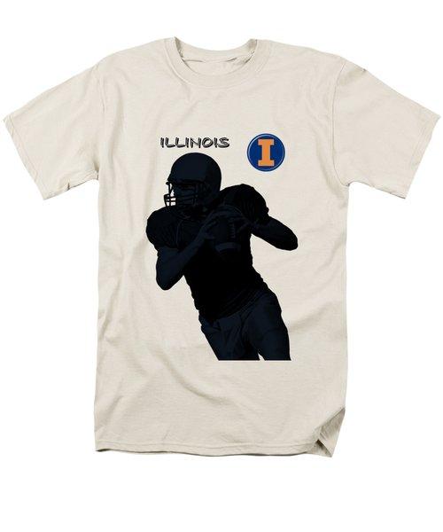 Illinois Football Men's T-Shirt  (Regular Fit) by David Dehner