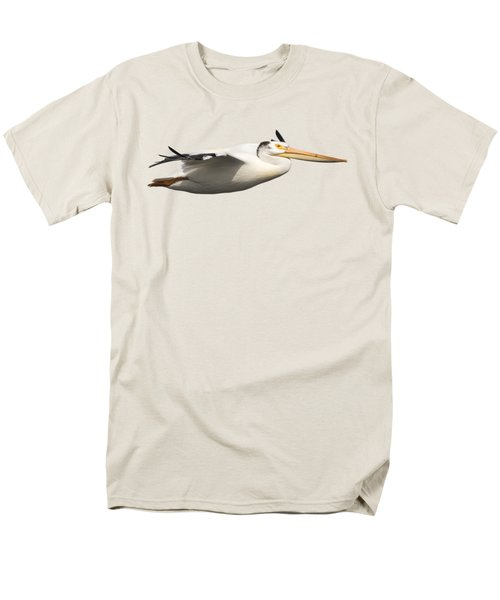 Isolated Pelican 2016-1 Men's T-Shirt  (Regular Fit) by Thomas Young