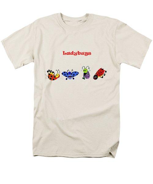 Ladybugs T-shirt Men's T-Shirt  (Regular Fit) by Karen Beasley