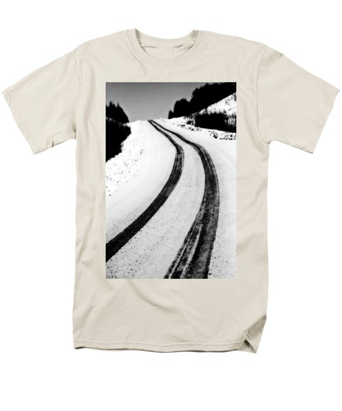 logging road in winter T-Shirt by Mark Duffy