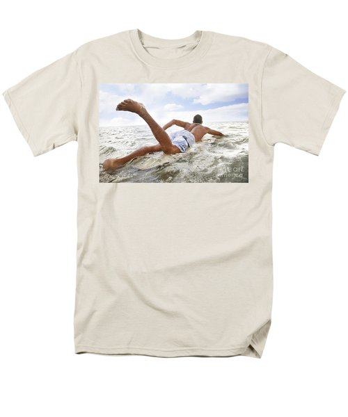 Male Surfer T-Shirt by Brandon Tabiolo - Printscapes
