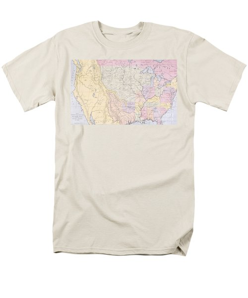 Map Showing The Localities Of The Indian Tribes Of The Us In 1833 Men's T-Shirt  (Regular Fit) by Thomas L McKenney and James Hall