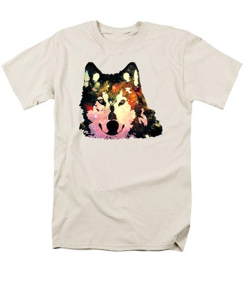 Night Wolf Men's T-Shirt  (Regular Fit) by Anastasiya Malakhova