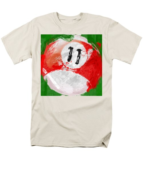 Number Eleven Billiards Ball Abstract T-Shirt by David G Paul