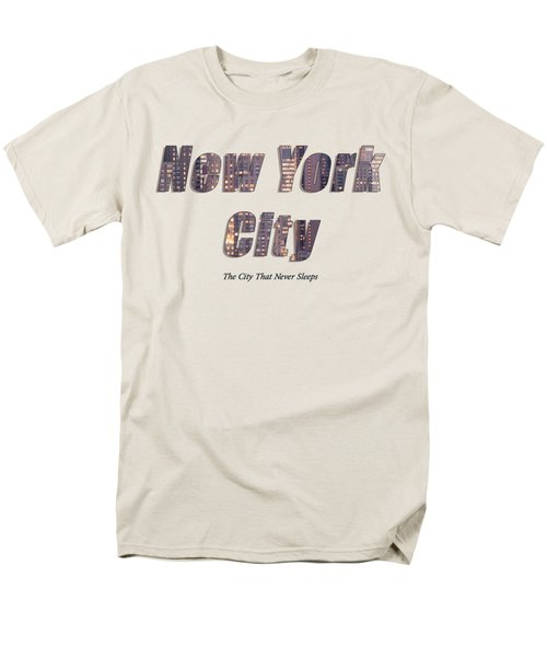 Nyc T-shirt Men's T-Shirt  (Regular Fit) by Rospotte Photography