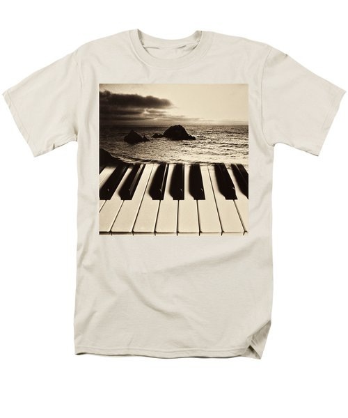 Ocean washing over keyboard T-Shirt by Garry Gay