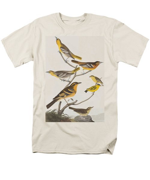 Orioles Thrushes And Goldfinches Men's T-Shirt  (Regular Fit) by John James Audubon