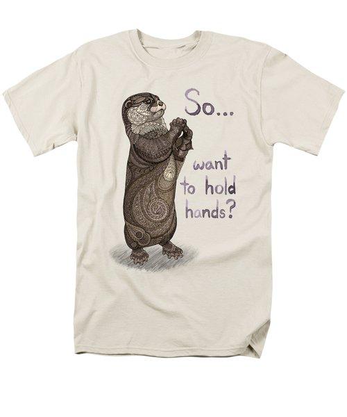 Otter Valentine Men's T-Shirt  (Regular Fit) by ZH Field