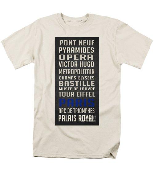 Paris Subway Stations Vintage Men's T-Shirt  (Regular Fit) by Edward Fielding