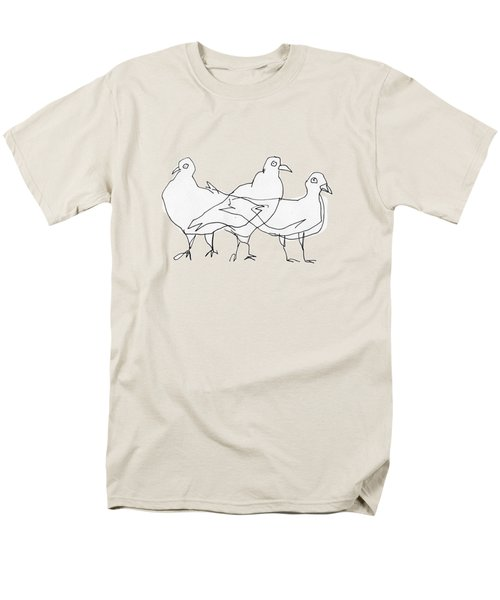 Pigeons Men's T-Shirt  (Regular Fit) by Matt Mawson