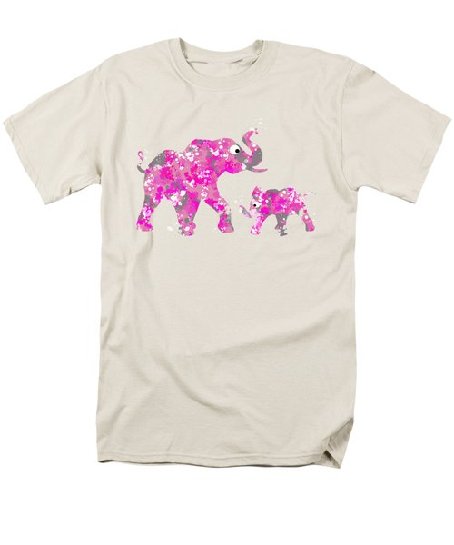 Pink Elephants Men's T-Shirt  (Regular Fit) by Christina Rollo
