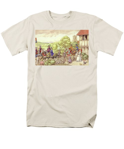 Prince Edward Riding From Ludlow To London Men's T-Shirt  (Regular Fit) by Pat Nicolle