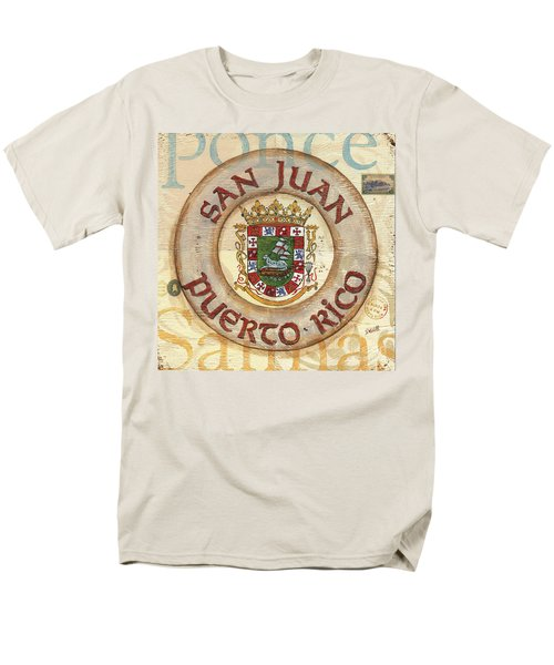 Puerto Rico Coat of Arms T-Shirt by Debbie DeWitt