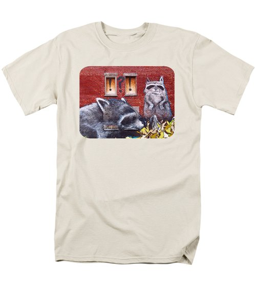 Raccoons Men's T-Shirt  (Regular Fit) by Ethna Gillespie